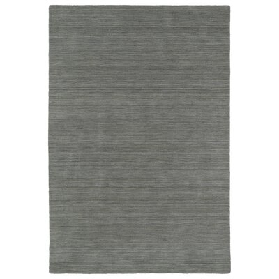 McCabe Hand-Loomed Silver Area Rug Rug Size: 3 x 5