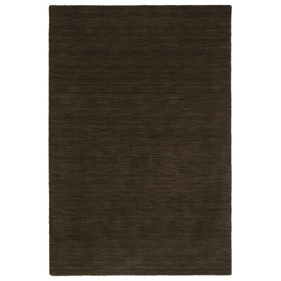 McCabe Hand-Loomed Chocolate Area Rug Rug Size: Rectangle 5 x 76