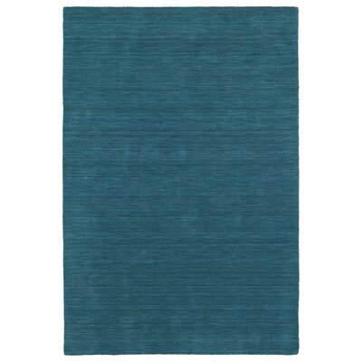 McCabe Hand-Loomed Turquoise Area Rug Rug Size: Rectangle 76 x 9