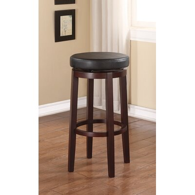 Claverley 29 Swivel Bar Stool Upholstery: Black