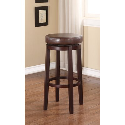 Lisle 29 inch Swivel Bar Stool Upholstery: Brown