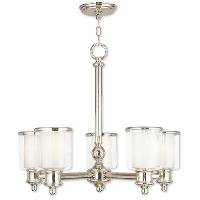 Lisle 5-Light Candle-Style Chandelier Finish: Polished Nickel