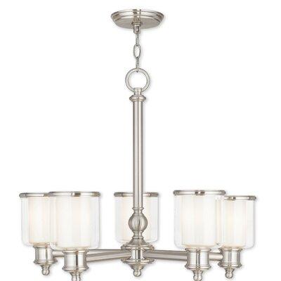 Lisle 5-Light Candle-Style Chandelier Finish: Brushed Nickel