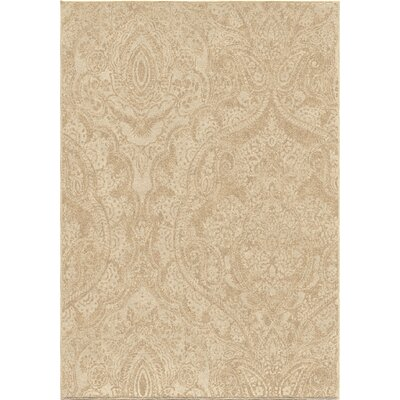Maywood Beige Indoor/Outdoor Area Rug Rug Size: 53 x 76