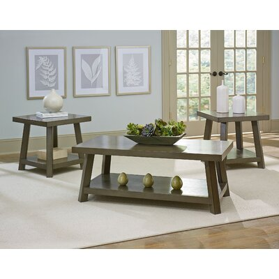 North York 3 Piece Coffee Table Set Finish: Grey