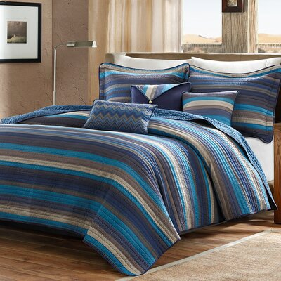 Mooresville 6 Piece Coverlet Set Size: Full / Queen, Color: Blue