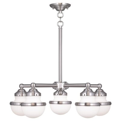 Montpelier 5-Light Shaded Chandelier Finish: Brushed Nickel