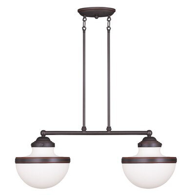 Montpelier 2-Light Kitchen Island Pendant Finish: Old Bronze