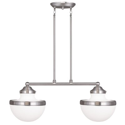 Montpelier 2-Light Kitchen Island Pendant Finish: Brushed Nickel