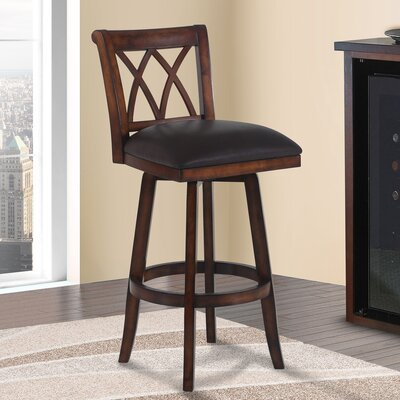 Westville 30 Swivel Bar Stool Finish: Pecan