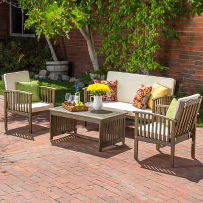 Milford 4 Piece Seating Group with Cushion