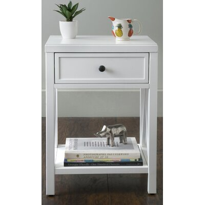 Laurel End Table Finish: White