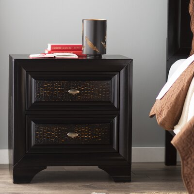 Maddocks 2 Drawer Nightstand