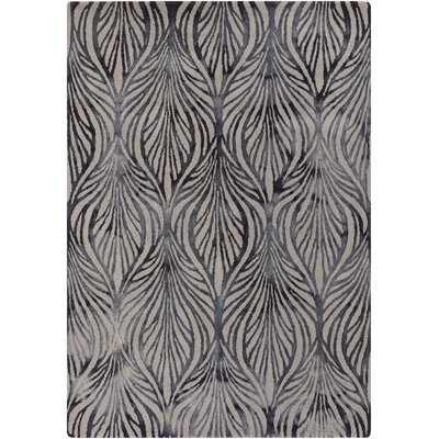 Sampson Black Rug Rug Size: 33 x 53