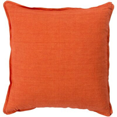 Orson Linen Pillow Cover Size: 18 H x 18 W x 0.25 D, Color: Orange