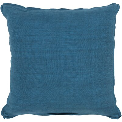 Orson Solid 100% Linen Throw Pillow Cover Size: 18 H x 18 W x 0.25 D, Color: Blue