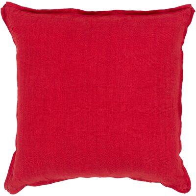 Orson Linen Pillow Cover Size: 22 H x 22 W x 0.25 D, Color: Red