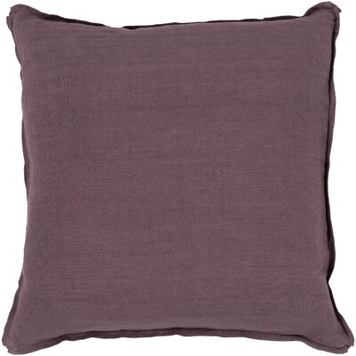 Orson Linen Pillow Cover Size: 20 H x 20 W x 0.25 D, Color: Purple