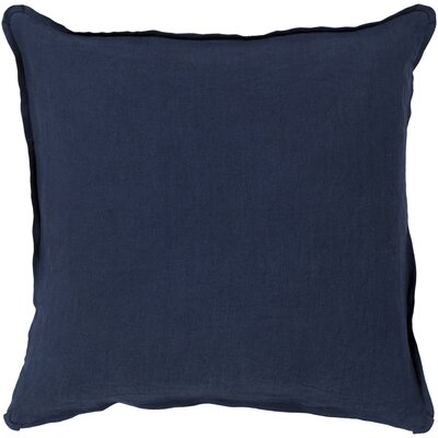 Orson Linen Pillow Cover Size: 20 H x 20 W x 0.25 D, Color: Navy