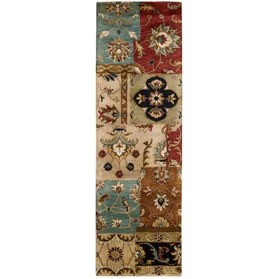 Philip Hand-Tufted Yellow/Brown/Black Area Rug Rug Size: Runner 24 x 8
