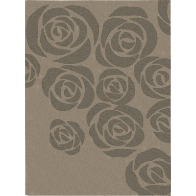 Roseland Hand-Tufted Beige/Gray Area Rug Rug Size: Rectangle 76 x 96