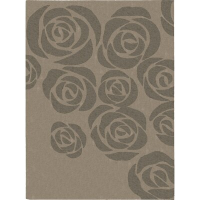 Roseland Hand-Tufted Beige/Gray Area Rug Rug Size: 56 x 75