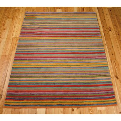 Roseland Hand-Tufted Wool Area Rug Rug Size: 76 x 96