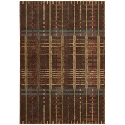 Riverdale Brown Area Rug Rug Size: 79 x 1010