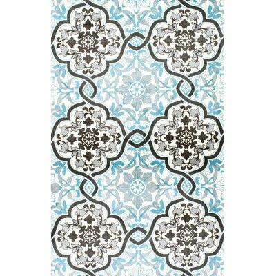 Sabrina Blue Area Rug Rug Size: Rectangle 4 x 6