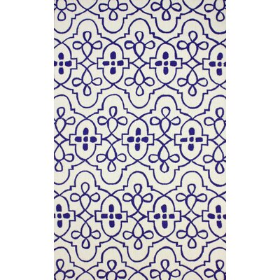 Silas Blue Area Rug Rug Size: 5 x 8