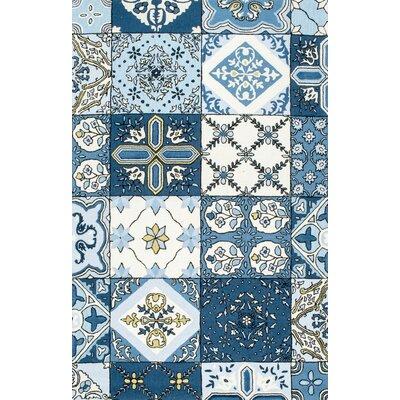 Soderville Hand-Tufted Blue Area Rug Rug Size: 5 x 8