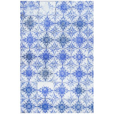 Veronica Tiles Blue Area Rug Rug Size: 55 x 82