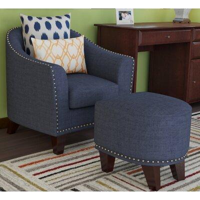 Damann Barrel Chair and Ottoman