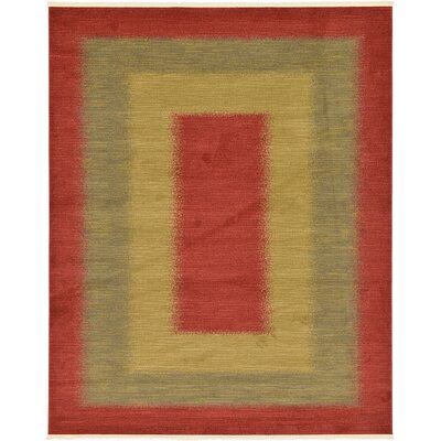 Jan Red Area Rug Rug Size: Rectangle 9 x 12