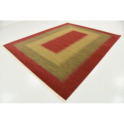 Jan Red Area Rug Rug Size: Round 6