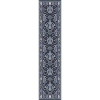Orland Hand-Knotted Dark Purple Area Rug Rug size: Runner 26 x 8