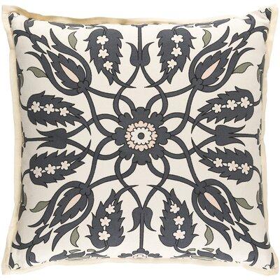 Oriole Throw Pillow Cover Size: 20 H x 20 W x 1 D, Color: GrayOrange
