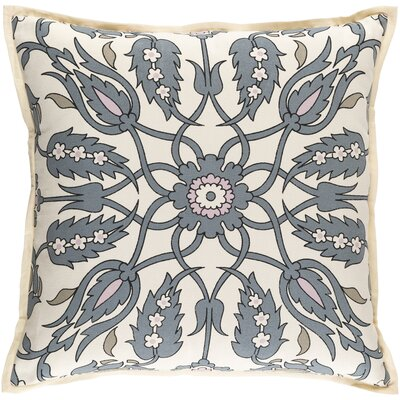 Oriole Throw Pillow Cover Size: 20 H x 20 W x 1 D, Color: GrayPink