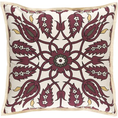 Oriole Throw Pillow Cover Size: 20 H x 20 W x 1 D, Color: RedBrown