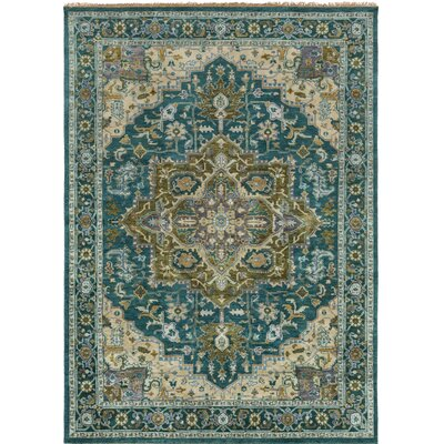 Orland Hand-Knotted Blue Area Rug Rug Size: Rectangle 8 x 11