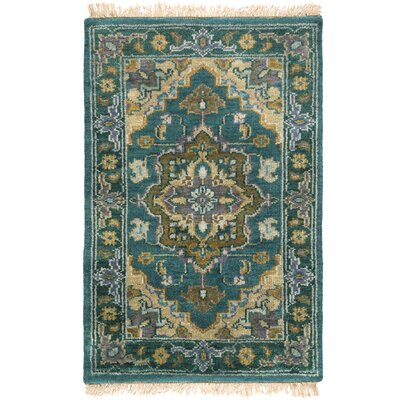 Orland Hand-Knotted Blue Area Rug Rug Size: Rectangle 9 x 13