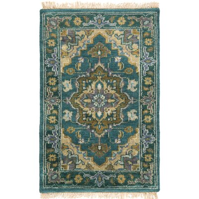 Orland Hand-Knotted Blue Area Rug Rug Size: Rectangle 10 x 14