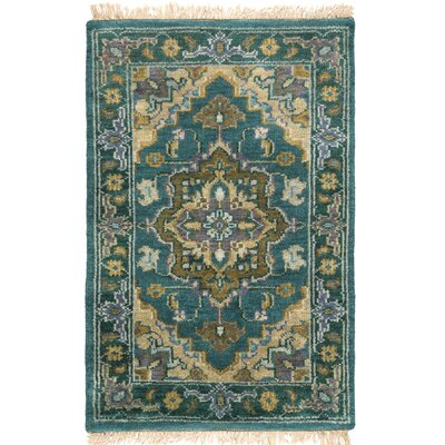 Orland Hand-Knotted Blue Area Rug Rug Size: Rectangle 4 x 6