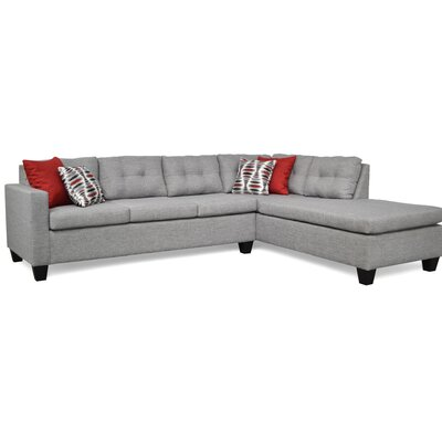 Mackay Sectional Upholstery: Oscar Sterling Gray