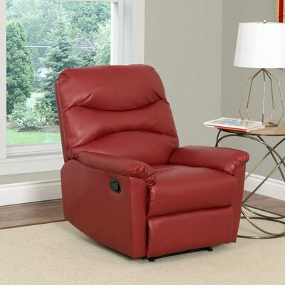 Sexton Manual Recliner Upholstery: Red