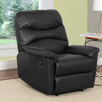 Sexton Manual Recliner Upholstery: Black