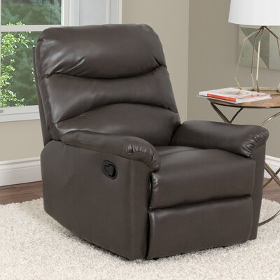 Sexton Manual Recliner Upholstery: Brown