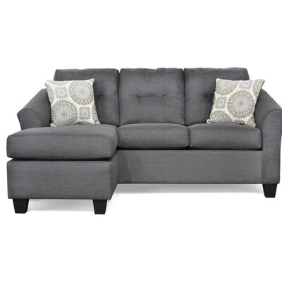 Desales Sectional Upholstery: Oscar Gunmetal