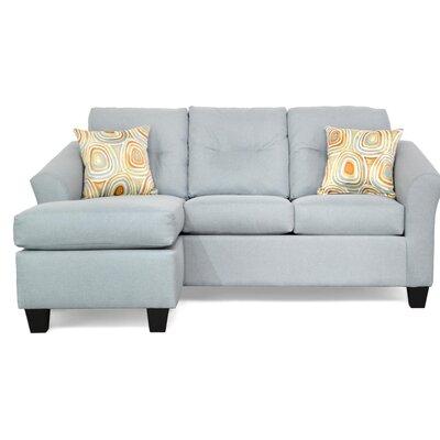 Desales Reversible Sectional Upholstery: Jitterbug Skymist