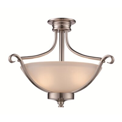 Eberhardt 2-Light Semi Flush Mount Finish: Rubbed Oil Bronze